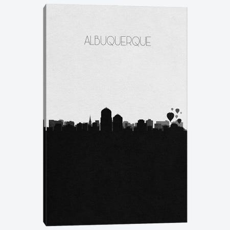 Albuquerque, New Mexico City Skyline Canvas Print #ADA278} by Ayse Deniz Akerman Canvas Artwork