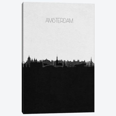 Amsterdam, Netherlands City Skyline Canvas Print #ADA279} by Ayse Deniz Akerman Canvas Wall Art