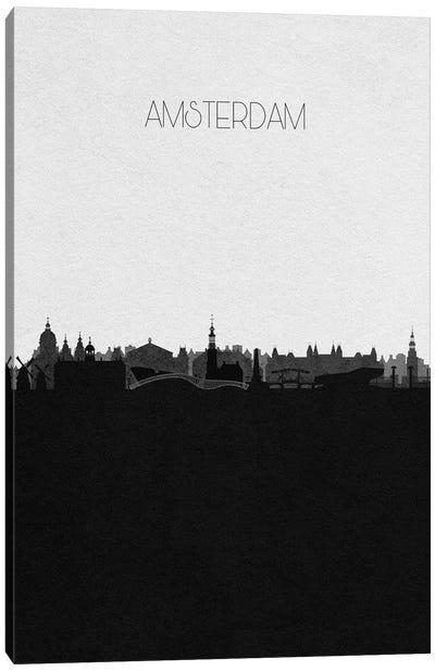 Amsterdam, Netherlands City Skyline Canvas Art Print