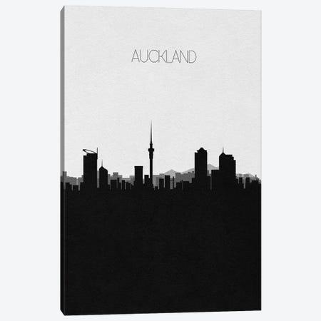 Auckland, New Zealand City Skyline Canvas Print #ADA283} by Ayse Deniz Akerman Canvas Print