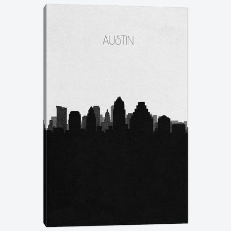 Austin, Texas City Skyline Canvas Print #ADA284} by Ayse Deniz Akerman Canvas Wall Art