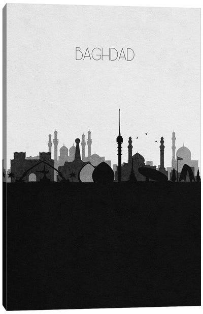 Baghdad, Iraq City Skyline Canvas Art Print