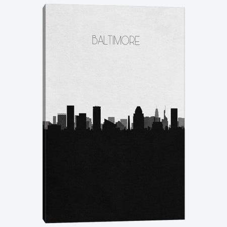 Baltimore, Maryland City Skyline Canvas Print #ADA287} by Ayse Deniz Akerman Canvas Wall Art