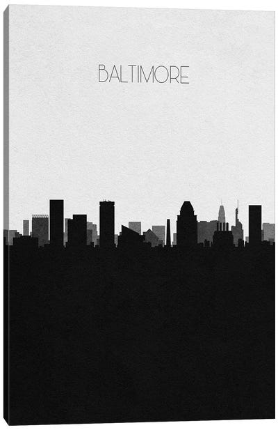 Baltimore, Maryland City Skyline Canvas Art Print