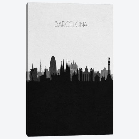Barcelona, Spain City Skyline Canvas Print #ADA289} by Ayse Deniz Akerman Art Print