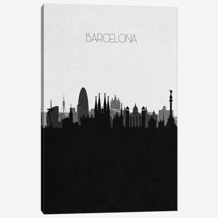 Barcelona, Spain City Skyline Canvas Print #ADA289} by Ayse Deniz Akerman Art Print