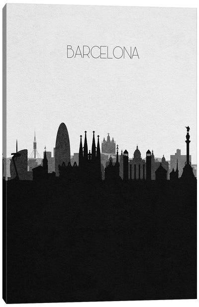 Barcelona, Spain City Skyline Canvas Art Print