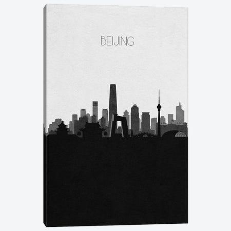 Beijing, China City Skyline Canvas Print #ADA290} by Ayse Deniz Akerman Canvas Wall Art