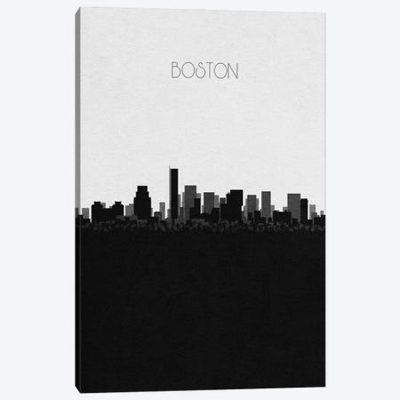 Boston, Massachusetts City Skyline Canvas Print #ADA294} by Ayse Deniz Akerman Canvas Art Print