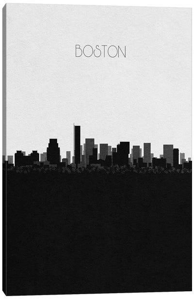 Boston, Massachusetts City Skyline Canvas Art Print