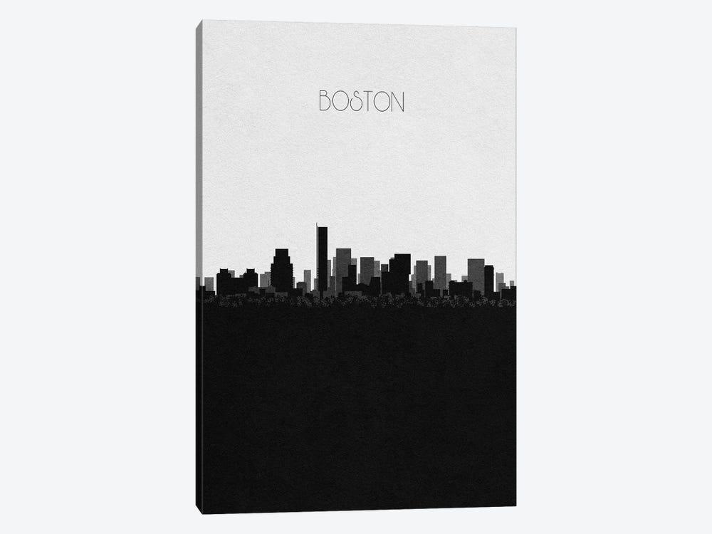 Boston, Massachusetts City Skyline by Ayse Deniz Akerman 1-piece Canvas Art Print