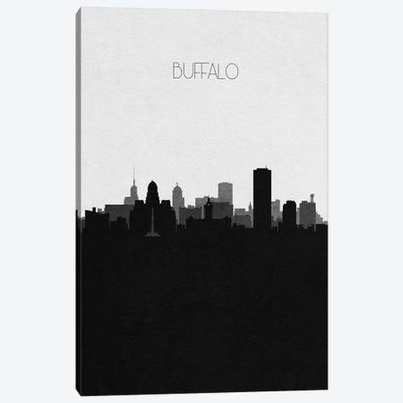 Buffalo, New York City Skyline Canvas Print #ADA297} by Ayse Deniz Akerman Art Print