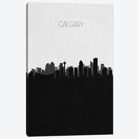 Calgary, Canada City Skyline Canvas Print #ADA299} by Ayse Deniz Akerman Canvas Art