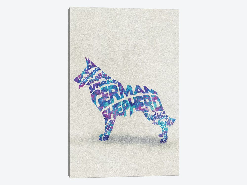 German Shepherd by Ayse Deniz Akerman 1-piece Canvas Wall Art