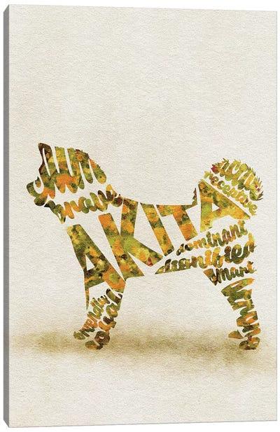Akita Inu Canvas Art Print