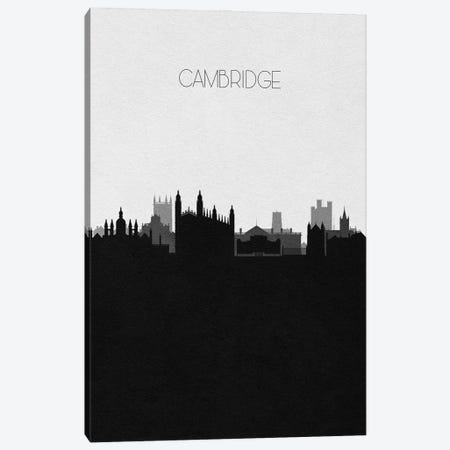 Cambridge, United Kingdom City Skyline Canvas Print #ADA300} by Ayse Deniz Akerman Canvas Artwork