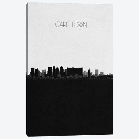 Cape Town, South Africa City Skyline Canvas Print #ADA301} by Ayse Deniz Akerman Canvas Art