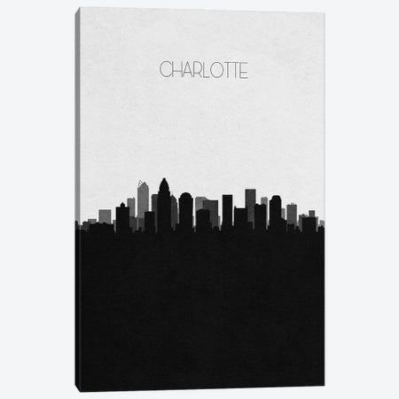 Charlotte, North Carolina City Skyline Canvas Print #ADA303} by Ayse Deniz Akerman Canvas Wall Art