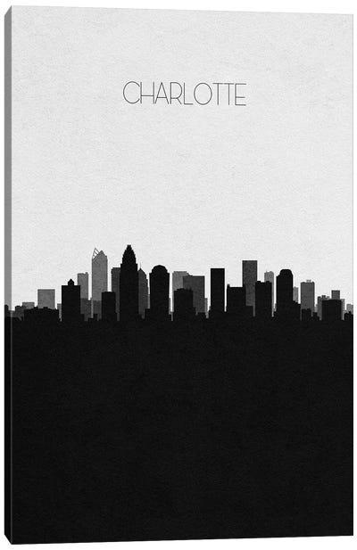 Charlotte, North Carolina City Skyline Canvas Art Print