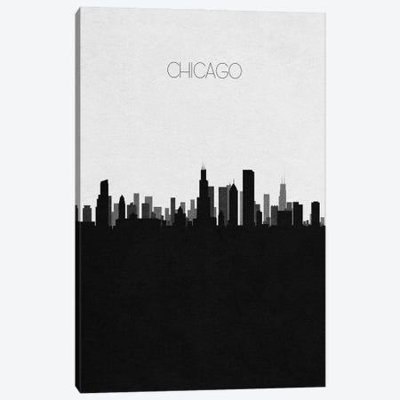 Chicago, Illinois City Skyline Canvas Print #ADA304} by Ayse Deniz Akerman Art Print
