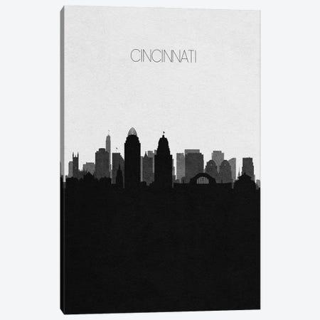 Cincinnati, Ohio City Skyline Canvas Print #ADA306} by Ayse Deniz Akerman Canvas Print