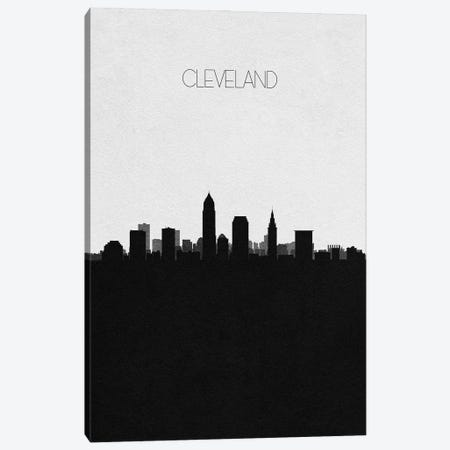 Cleveland, Ohio City Skyline Canvas Print #ADA307} by Ayse Deniz Akerman Canvas Art Print
