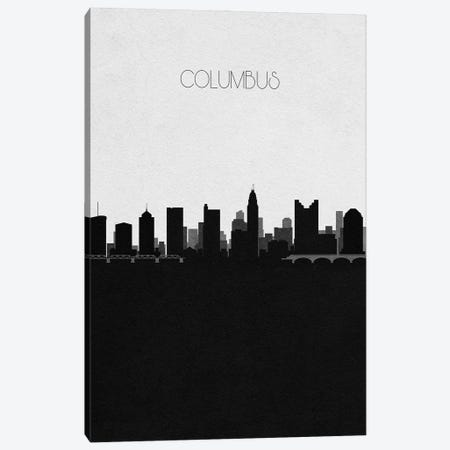 Columbus, Ohio City Skyline Canvas Print #ADA308} by Ayse Deniz Akerman Canvas Wall Art