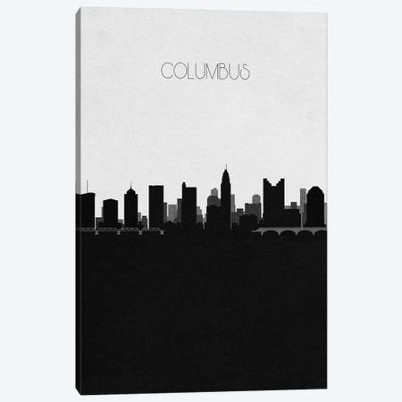 Columbus, Ohio City Skyline Canvas Print #ADA308} by Ayse Deniz Akerman Canvas Wall Art