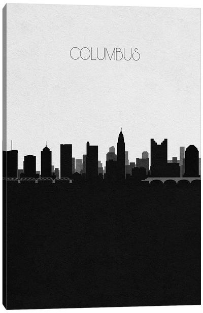 Columbus, Ohio City Skyline Canvas Art Print