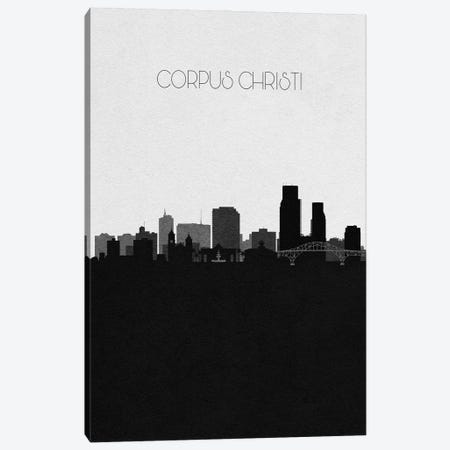 Corpus Christi, Texas City Skyline Canvas Print #ADA309} by Ayse Deniz Akerman Canvas Art