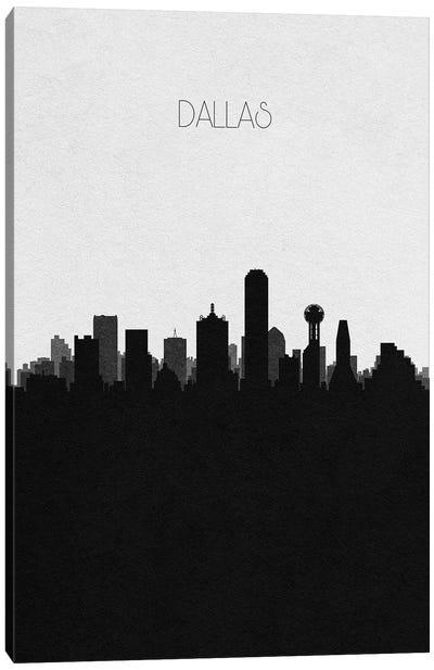 Dallas, Texas City Skyline Canvas Art Print