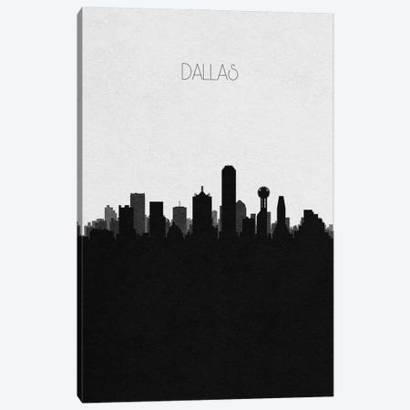 Dallas, Texas City Skyline Canvas Print #ADA310} by Ayse Deniz Akerman Art Print