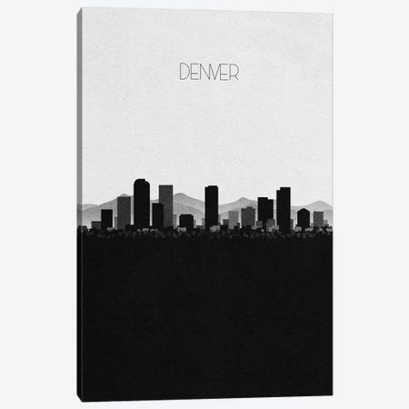 Denver, Colorado City Skyline Canvas Print #ADA312} by Ayse Deniz Akerman Canvas Art Print