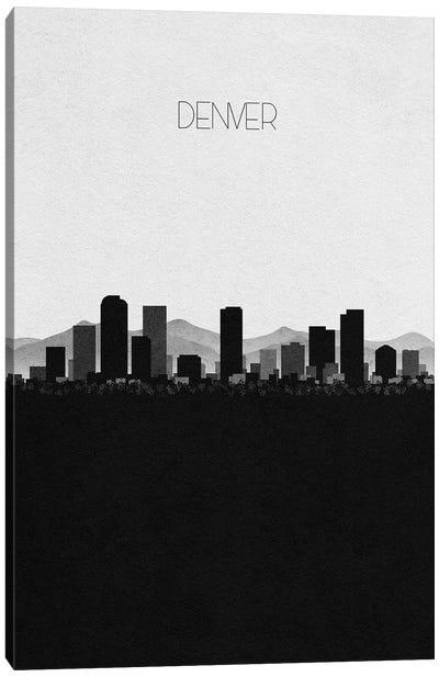 Denver, Colorado City Skyline Canvas Art Print