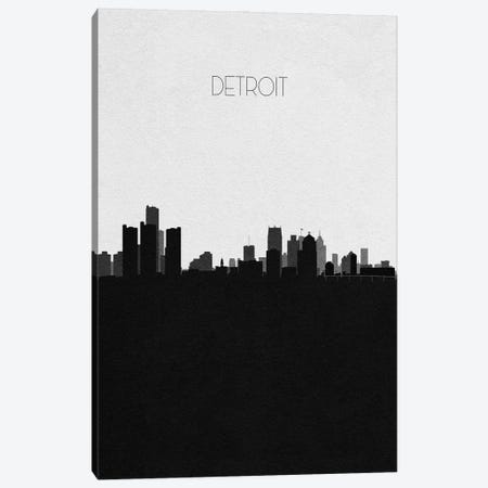Detroit, Michigan City Skyline Canvas Print #ADA313} by Ayse Deniz Akerman Canvas Print