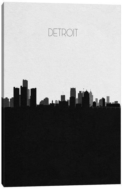 Detroit, Michigan City Skyline Canvas Art Print