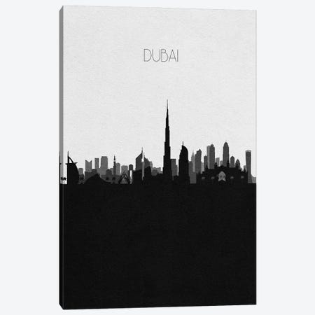 Dubai, UAE City Skyline Canvas Print #ADA316} by Ayse Deniz Akerman Canvas Artwork