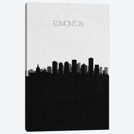 Edmonton, Canada City Skyline Canvas Print #ADA319} by Ayse Deniz Akerman Art Print