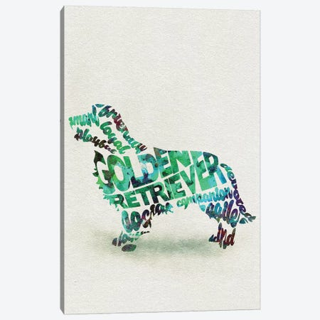 Golden Retriever Canvas Print #ADA31} by Ayse Deniz Akerman Canvas Wall Art