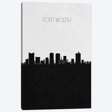 Fort Worth, Texas City Skyline Canvas Print #ADA321} by Ayse Deniz Akerman Canvas Art