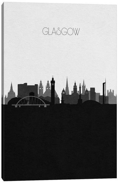 Glasgow, Scotland City Skyline Canvas Art Print