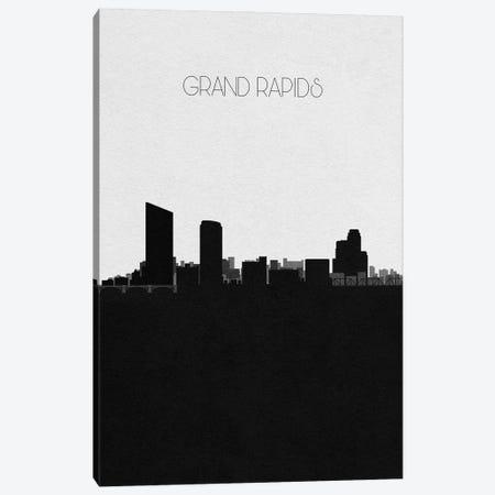 Grand Rapids, Michigan City Skyline Canvas Print #ADA326} by Ayse Deniz Akerman Art Print