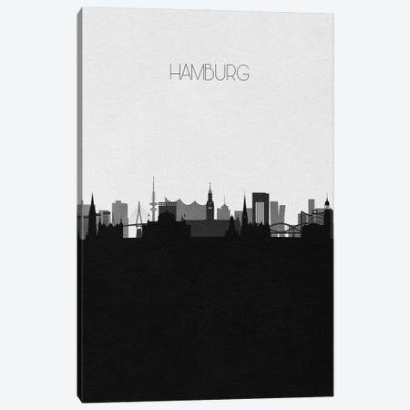 Hamburg, Germany City Skyline Canvas Print #ADA327} by Ayse Deniz Akerman Canvas Print