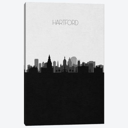 Hartford, Connecticut City Skyline Canvas Print #ADA329} by Ayse Deniz Akerman Canvas Artwork