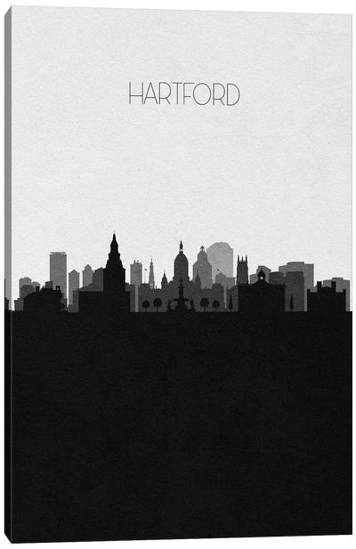 Hartford, Connecticut City Skyline Canvas Art Print