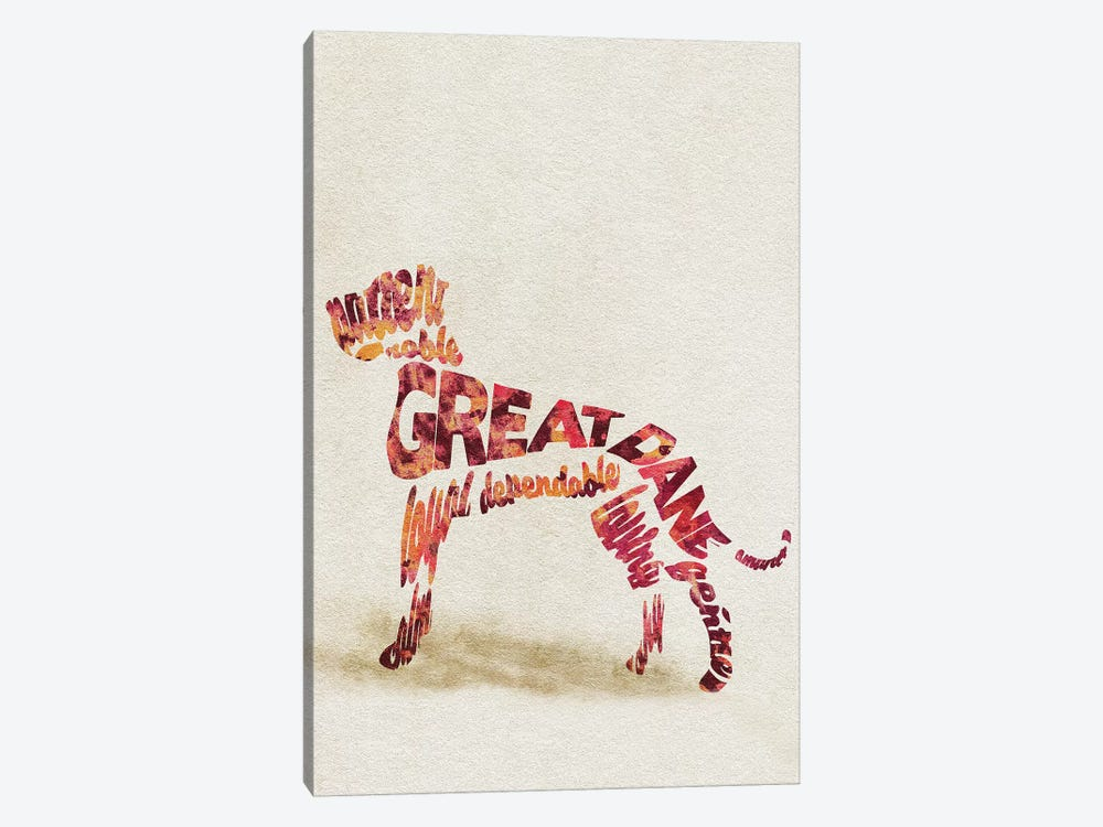 Great Dane by Ayse Deniz Akerman 1-piece Canvas Art