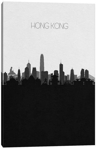 Hong Kong, China City Skyline Canvas Art Print