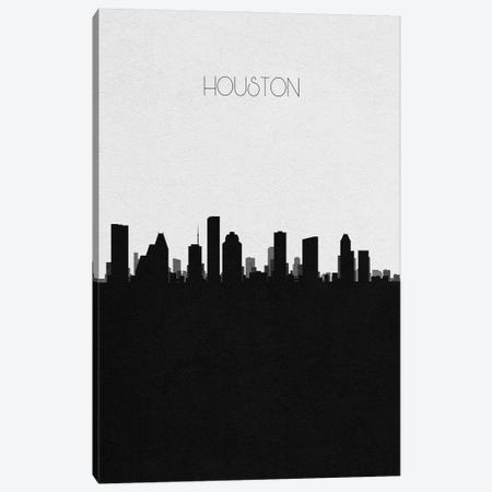 Houston, Texas City Skyline Canvas Print #ADA332} by Ayse Deniz Akerman Canvas Art Print