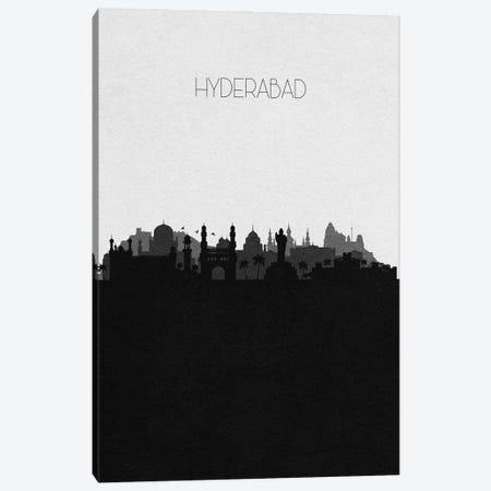 Hyderabad, India City Skyline Canvas Print #ADA333} by Ayse Deniz Akerman Canvas Print