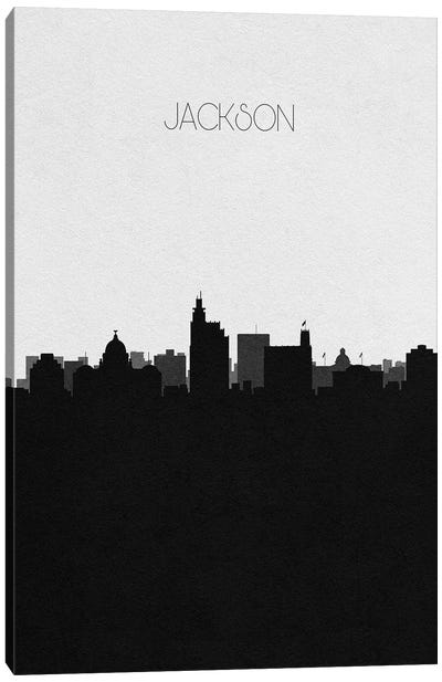 Jackson, Mississippi City Skyline Canvas Art Print